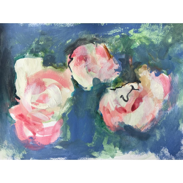Watercolor Soft Roses Painting - Image 2 of 5