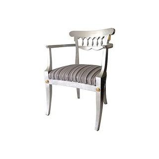 1950's Baker Silver Leaf Klismos Chair