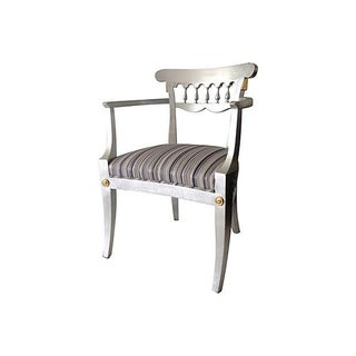 1950's Baker Silver Leaf Klismos Chair