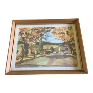 "1950's John Rogers Autumn ""Harvest Time"" Signed Lithograph"