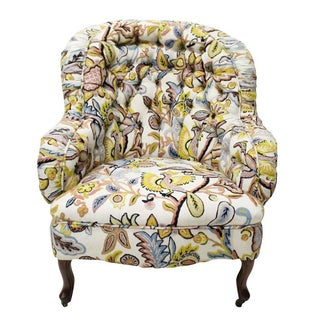 Tufted Crewelwork Arm Chair