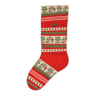 Vintage Handmade Red Christmas Stocking