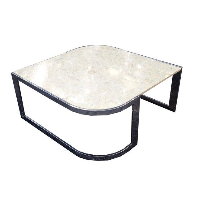 Milo Baughman Chrome Coffee Table: Milo Baughman Marble & Chrome Cocktail Table