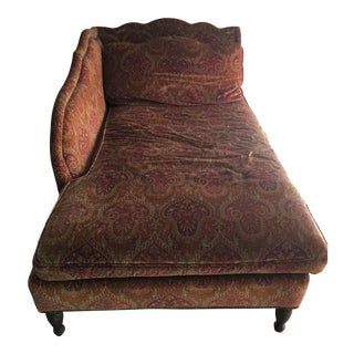 Patterned Stanford Chaise
