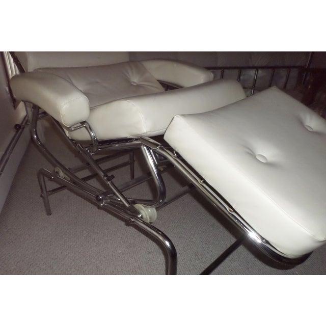 Image of Vintage 1960s Lama Chrome Lounge Massage Chair
