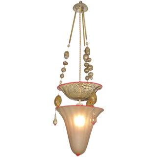 A Rare Early Venini Pendant Light
