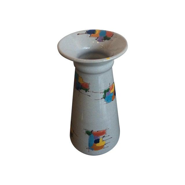 Deruta Italian Pottery Tall Vase - Image 1 of 8