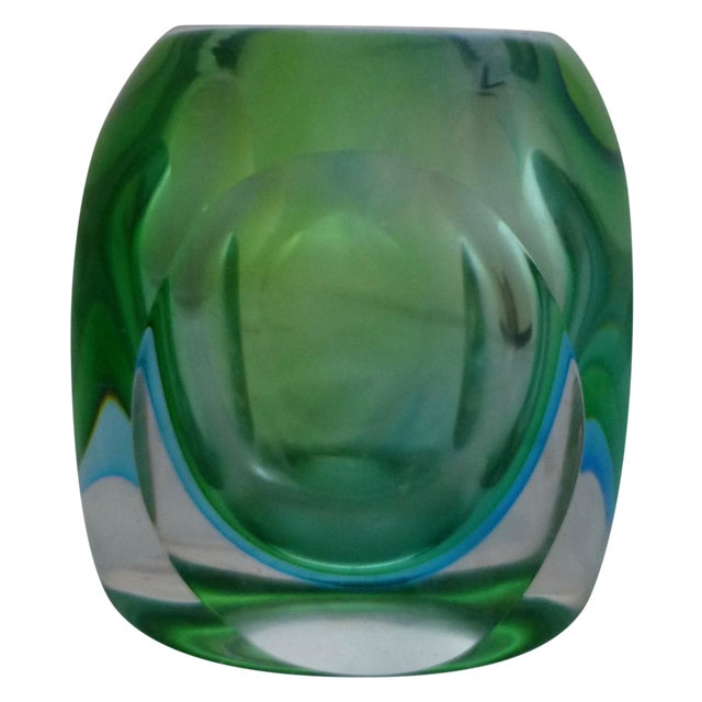 Vintage Murano Glass Sommerso Vase by Flavio Poli - Image 1 of 9