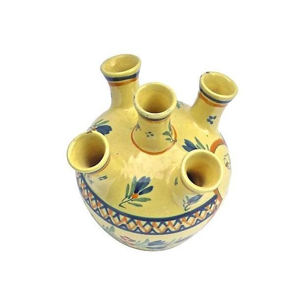 Vintage Henriot Quimper Maiden Tulipier Vase - Image 2 of 6