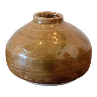 Handmade Mustard Glaze Studio Pottery Ceramic Vessel