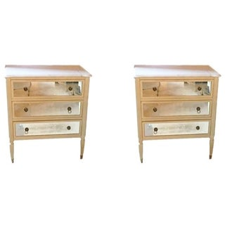 Marble Top Commodes or Nightstands - Pair