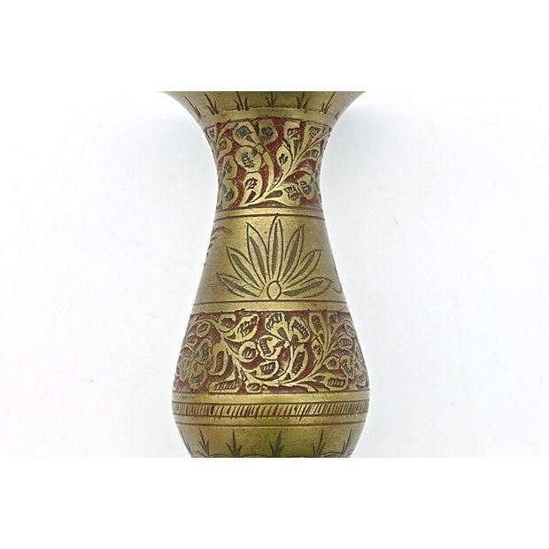 Indian Fluted Vases - A Pair - Image 8 of 9