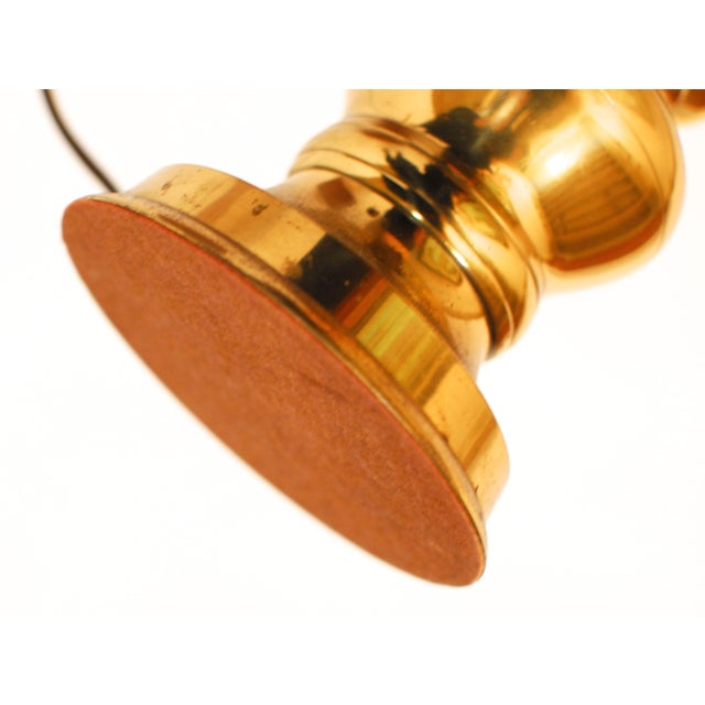 Image of Brass Regency Stiffel Candlestick Lamp