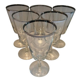 Mid-Century Dorothy Thorpe Footed Low Ball Glasses - Set of 6