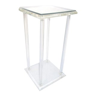 Vintage Lucite Pedestal Accent Table