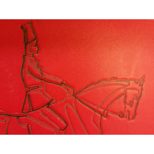Embossed Leather Horse & Rider Wall Hanging - Image 5 of 6