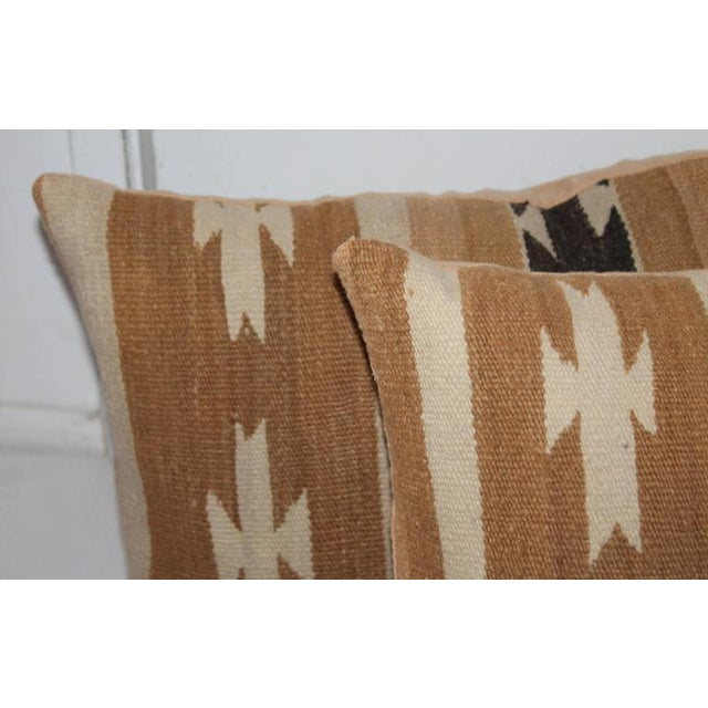Pair of Chinle Navajo Indian Weaving Bolster Pillows - Image 4 of 5