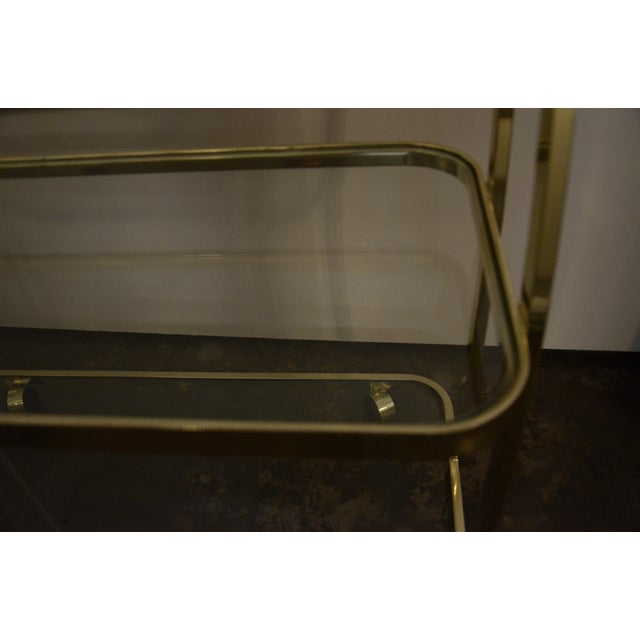 DIA Three-Tier Brass and Glass Bar, Drinks, Tea or Service Cart /Trolley - Image 8 of 11