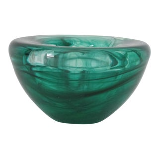 Small Green Glass Catchall