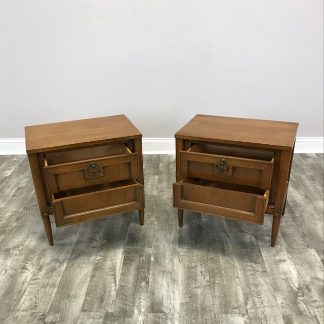 Basic Witz Mid Century Nightstands - a Pair - Image 3 of 11