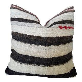 Vintage Striped Turkish Rug Pillow