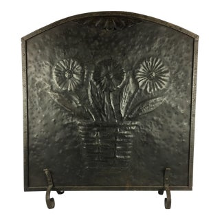 French Wrought Iron Fireplace Plaque