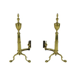 19th-C. Georgian Style Andirons - A Pair