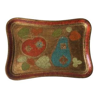 Vintage Florentine Italian Gilt Tray
