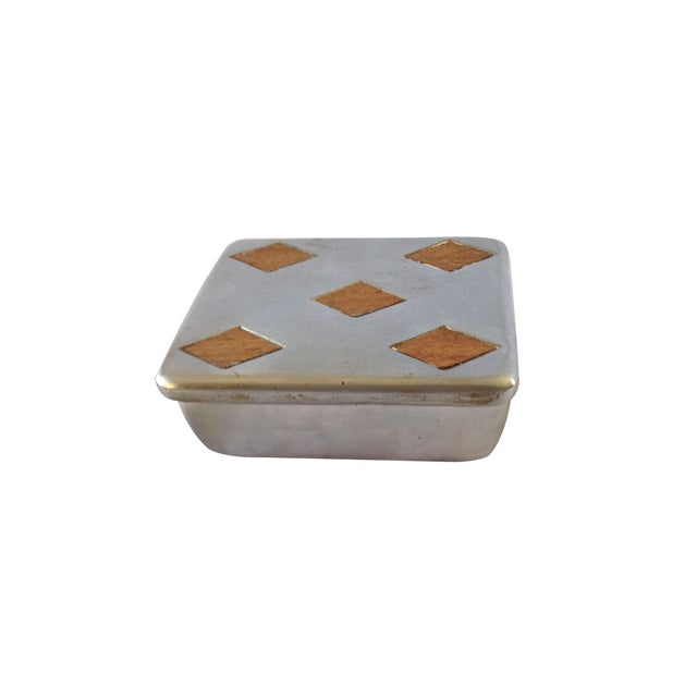"Vintage Ben Seibel Silver ""Five of Diamonds"" Box - Image 2 of 5"