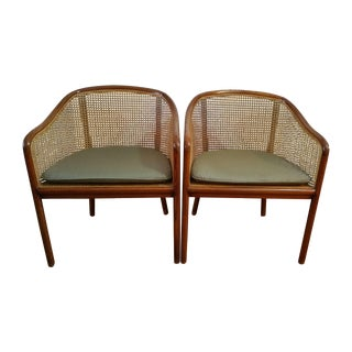 Ward Bennett Designs Cane Side Chairs - A Pair