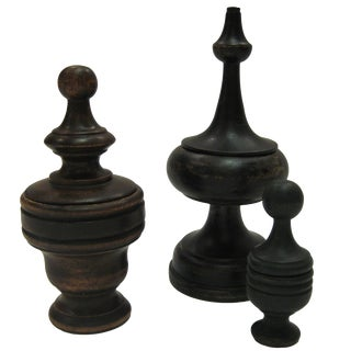 Traditional Wooden Finials - Set of 3