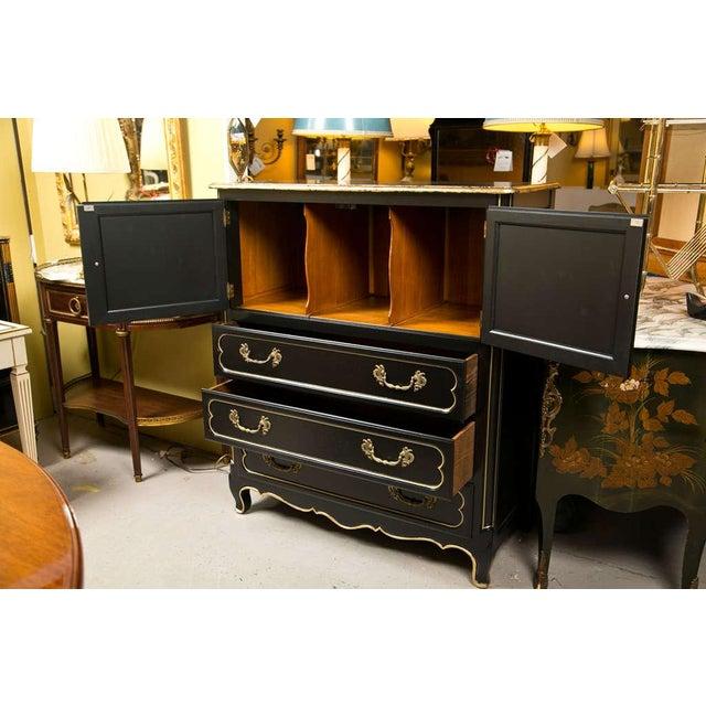French Louis XV Style Ebonized Cabinet on Chest - Image 2 of 6