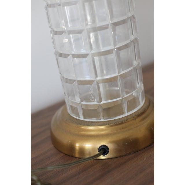 Vintage Hollywood Regency Tall Cut Crystal Geyer Dresden Lamp - Image 4 of 6