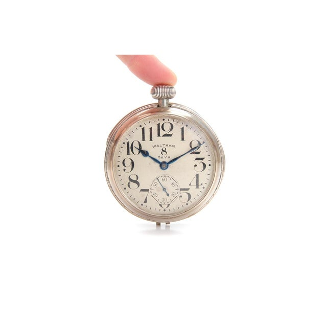 Waltham 8 Days Desk Clock With Sterling Stand - Image 7 of 9