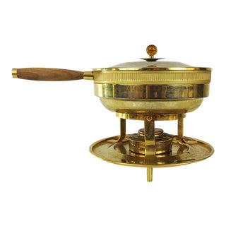 Vintage Brass Chaffing Dish