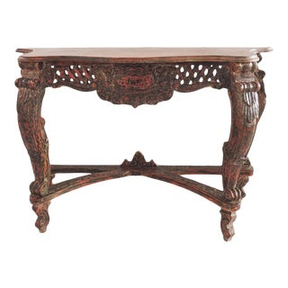 Vintage Carved Entry Table