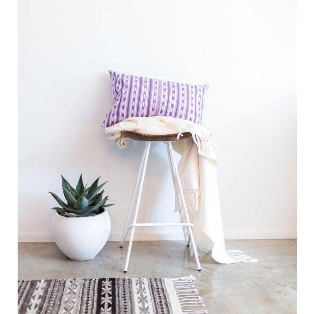 Lilac Purple Ikat Guatemalan Pillow - Image 4 of 7
