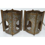Image of Tom Green Handmade Brass & Metal Welding Pendant Lights - Pair