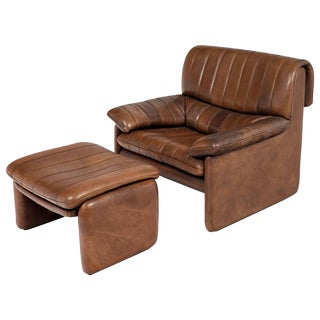 De Sede DS-85 Leather Armchair and Ottoman Set