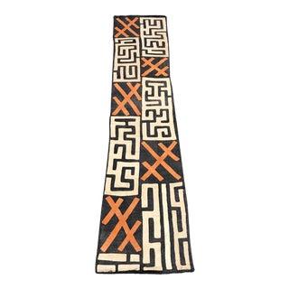 """African Art, Tribal Art Handwoven Kuba Cloth From Drc - 99"""" X 19"""""""
