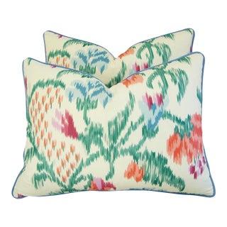 Custom Brunschwig & Fils Marly Pillows - a Pair
