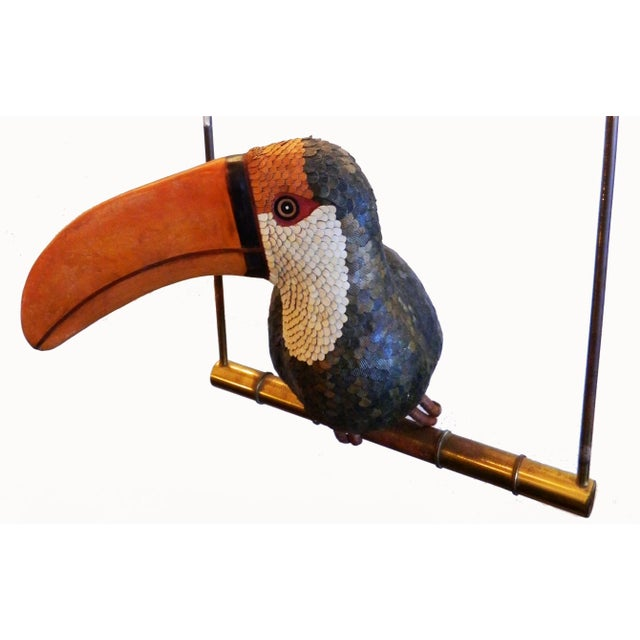 Vintage Signed Federico Toucan on a Swing - Image 4 of 6