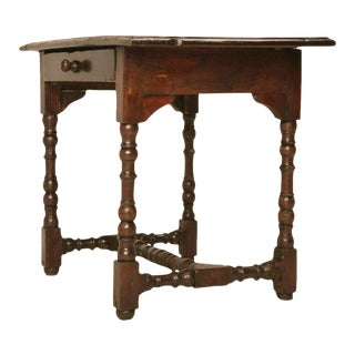 Original Rustic & Primitive Petite French Writing Table w/Drawer
