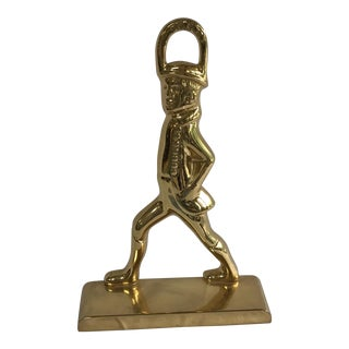 Large Brass Hessian Soldier Doorstop