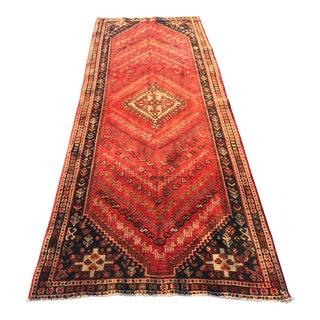 "Vintage Persian Qashghi Rare Runner - 3'6""x9'10"""