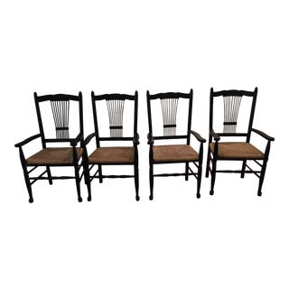 Wooden Rush Arm Dining Chairs - Set of 4