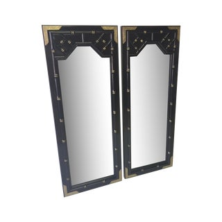 Huntley by Thomasvile Faux Bamboo Mirrors- A Pair