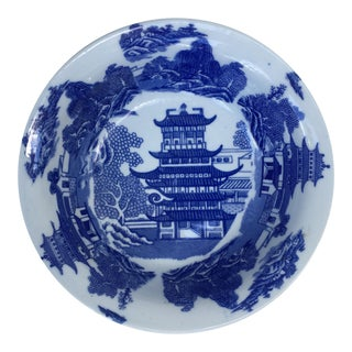 Victoria Ware Ironstone Blue Willow Serving Bowl