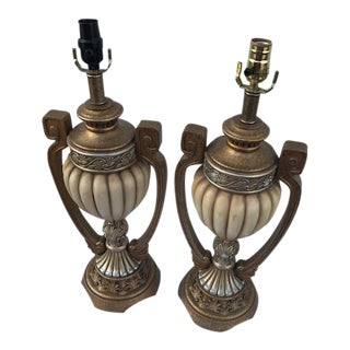 Ceramic Beige Table Lamps - A Pair