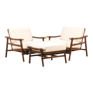 Superb Restored Pair of Loungers by Wisner for Ficks Reed - Two Pair Available